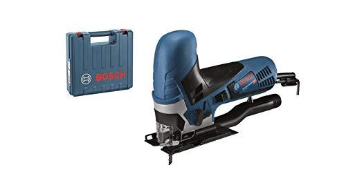 Bosch Professional Stichsäge GST 90 E (650 Watt, Schnitttiefe in Holz: 90 mm, inkl. 1x Sägeblatt, Absaug-Set, Spanreißschutz, im Koffer)