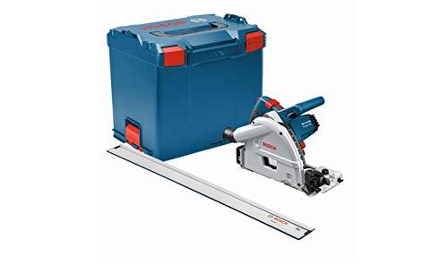 Bosch Professional Tauchsäge GKT 55 GCE (1.400 Watt, inkl. 1x Führungsschiene FSN 1600, 1x Kreissägeblatt für Holz, 1/1 L-BOXX-Einlage Gerät)