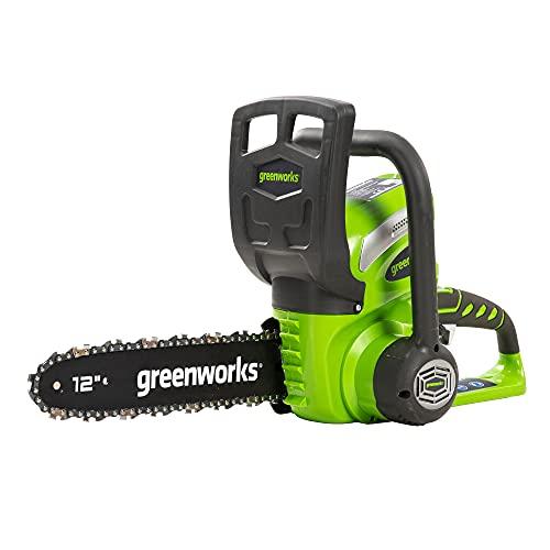 Greenworks Akku-Kettensäge G40CS30 (Li-Ion 40V 4,2m/s Kettengeschwindigkeit 30cm Schwertlänge 120ml Öltankvolumen Rund-um Griff ohne Akku und Ladegerät)