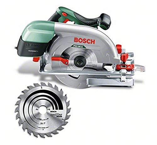 Bosch Kreissäge PKS 66 A (1600 Watt, Kreissägeblatt Nenn-Ø 190 mm, im Karton)