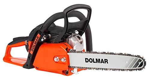 Dolmar Benzin Kettensäge (Hubraum 32 cm³, 1,8 PS, Kraftstofftank-Inhalt 400 ml. Schienenlänge 35 cm, Kette 3/8 Zoll ) PS32C-35