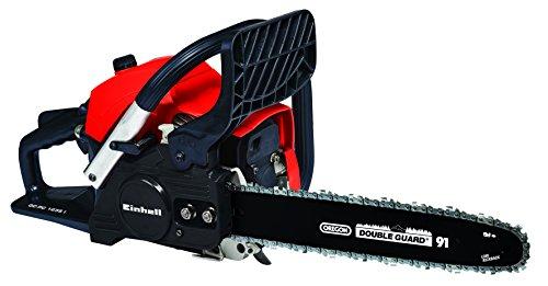 Einhell Benzin-Kettensäge GC-PC 1235 I (luftgekühlter 2-Takt-Motor, Antivibration, 'Primer', Auto-Choke, digitale Zündung, Rückschlagschutz)