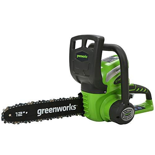 Greenworks Akku-Kettensäge G40CS30 (Li-Ion 40V 4,3m/s Kettengeschwindigkeit 30cm Schwertlänge 120ml Öltankvolumen Rund-um Griff ohne Akku und Ladegerät)