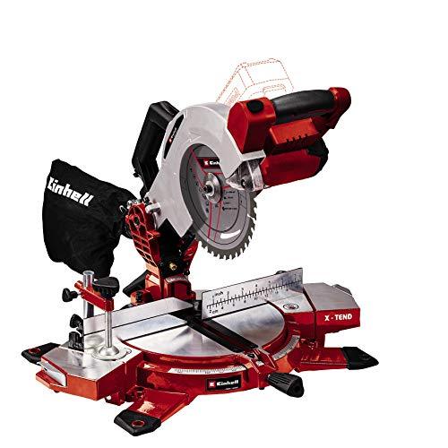 Einhell Akku-Kappsäge TE-MS 18/210 Li-Solo Power X-Change (Li-Ion, 18 V, 3.000 min-1, neigbarer Sägekopf, X-Tend Werkstückauflagen, HM-Präzisionssägeblatt, ohne Akku und Ladegerät)
